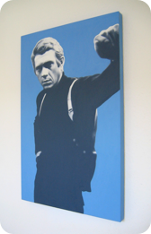 Urban Canvas Steve Mcqueen OIl on Canvas