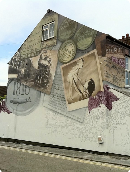 Gabke End Mural JMJ Pottery Chatsworth Road Chesterfield by Urban Canvas