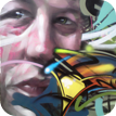 graffiti portrait paintings from photos by an urban canvas artist
