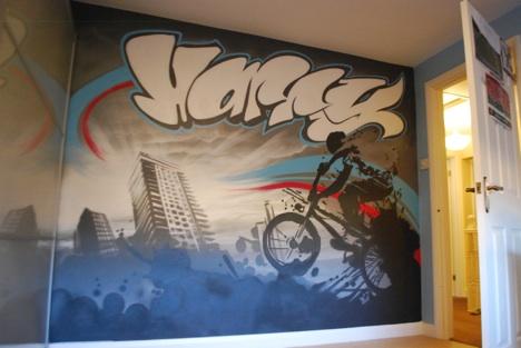 Graffiti Bedrooms | Kids Bedroom Artwork | Children\'s Bedroom ...