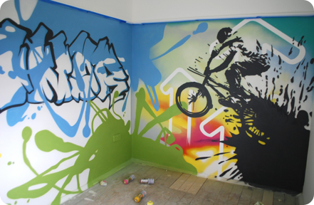 graffiti interior design
