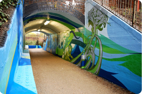 Slough Cycle Path Mural by Urban Canvas