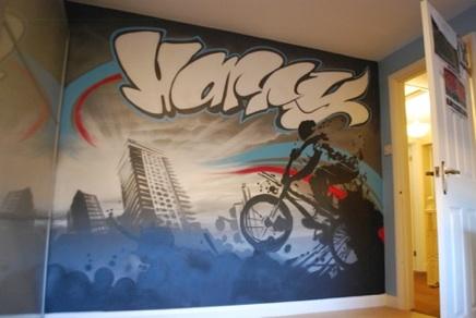 Graffiti Bedrooms | Kids Bedroom Artwork | Children's ...